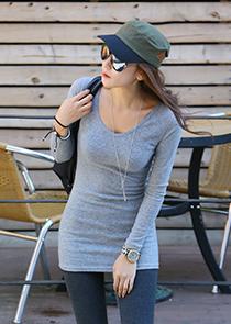 465431 - Mini mini brushed neck t-shirt