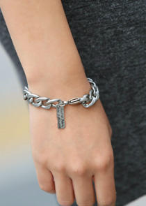 "465792 - <br> <font color=""878787""><font face=""굴림"">Glossy chain -bangle</font></font>"