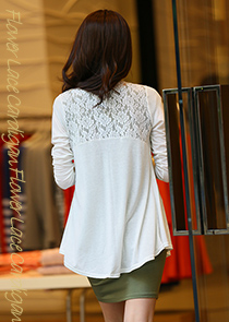 "472607 - <font color=""878787""><font face=""굴림"">Lace Bag Shoulder Cardigan</font></font>"