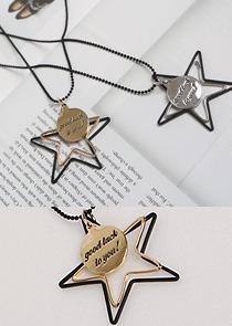 "473780 - <br> <font color=""878787""><font face=""굴림"">Tuin stars -necklace</font></font>"