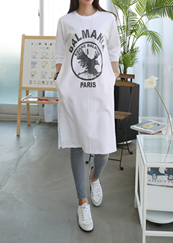"485884 - <font color=""878787""><font face=""굴림"">Eagle Ford Long T-shirt printing</font></font>"