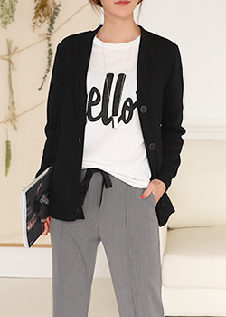 "485923 - <font color=""878787""><font face=""굴림"">Coron basic V-neck cardigan</font></font>"