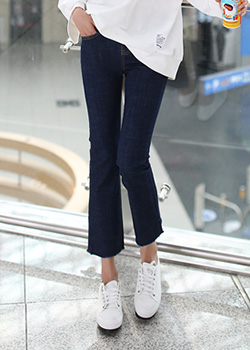 "486154 - <font color=""878787""><font face=""굴림"">Blanche semi-boot-cut pants</font></font>"
