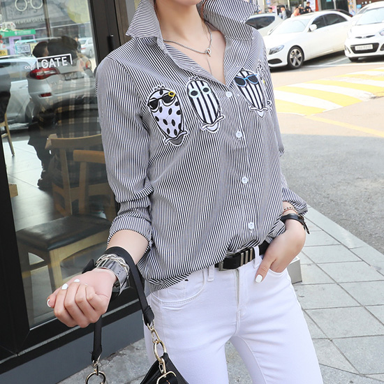 "486228 - <font color=""878787""><font face=""굴림"">Striped shirt ohul Wapenamanda</font></font>"