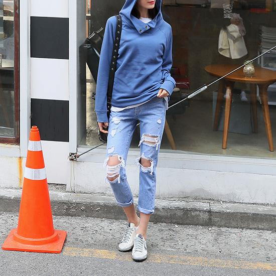 """486236 - <font color=""""878787""""><font face=""""굴림"""">Mei Chan Hooded T-Shirt</font></font>"""