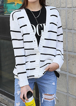 "486242 - <font color=""878787""><font face=""굴림"">Kira Van striped knit cardigan</font></font>"