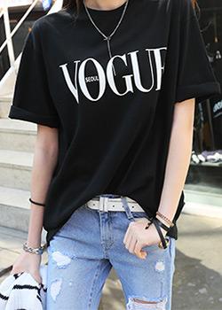 "486243 - <font color=""878787""><font face=""굴림"">Vogue printing T-shirts</font></font>"