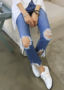 "486320 - <font color=""878787""><font face=""굴림"">Croisette semi denim boot-cut pants</font></font>"