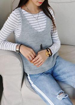 """486347 - <font color=""""878787""""><font face=""""굴림"""">Decatur Easy Knit Vest</font></font>"""