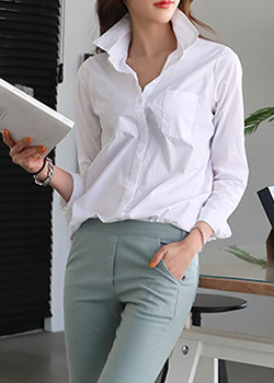 "486367 - <font color=""878787""><font face=""굴림"">Basic Oxford Shirt</font></font>"