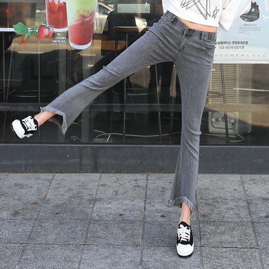 """486388 - <font color=""""878787""""><font face=""""굴림"""">Promise jeans Sikk Gray Boots Cut Pants</font></font>"""