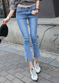 "486434 - <font color=""878787""><font face=""굴림"">Pobit semi boots cut denim pants</font></font>"