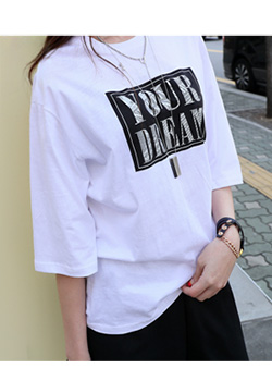"486437 - <font color=""878787""><font face=""굴림"">Yours Dream T-shirt printing</font></font>"