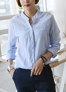 "486481 - <font color=""878787""><font face=""굴림"">Official Stripe Shirt</font></font>"