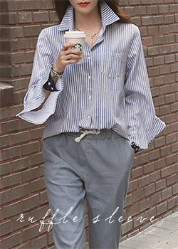 "486497 - <font color=""878787""><font face=""굴림"">Chyachya Stripe Shirts</font></font>"