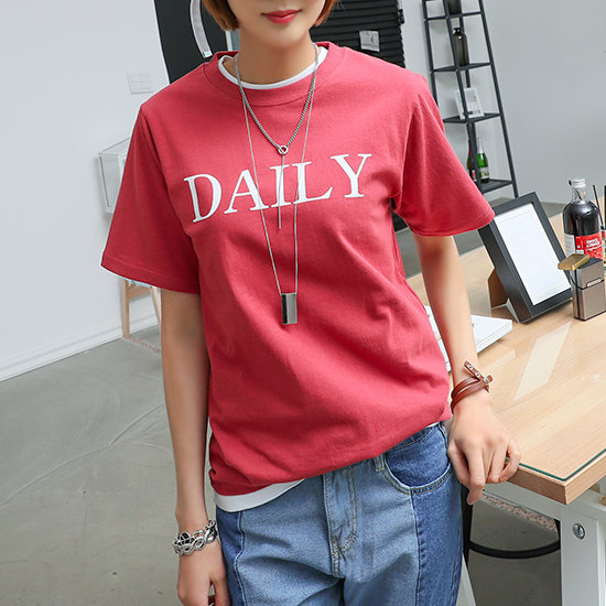"486655 - <font color=""878787""><font face=""굴림"">Daily mower printing T-shirts</font></font>"