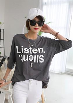 "486672 - <font color=""878787""><font face=""굴림"">Listen printing T-shirts</font></font>"