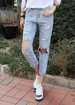 "486721 - <font color=""878787""><font face=""굴림"">Turbie denim exhaust pants</font></font>"