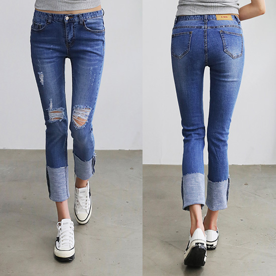 486782 - Intio roll-up denim pants