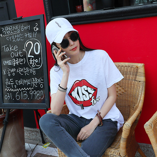 "486825 - <font color=""878787""><font face=""굴림"">Kiss T-shirt printing oil</font></font>"