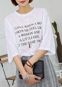 "486876 - <font color=""878787""><font face=""굴림"">Love Boy T-shirt printing</font></font>"