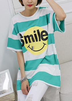 "486891 - <font color=""878787""><font face=""굴림"">Antia Striped T-shirt</font></font>"