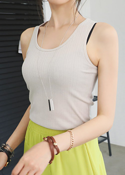 "486951 - <font color=""878787""><font face=""굴림"">Nibu's Sleeveless shirts</font></font>"