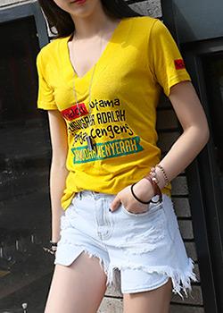 "486988 - <font color=""878787""><font face=""굴림"">Kenji V-neck shirts</font></font>"