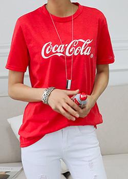 """487000 - <font color=""""878787""""><font face=""""굴림"""">Cola t-shirt printing</font></font>"""