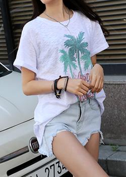"""487040 - <font color=""""878787""""><font face=""""굴림"""">Palm Trees T-Shirt</font></font>"""