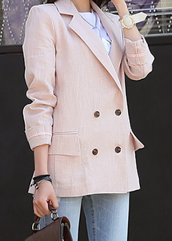 "487046 - <font color=""878787""><font face=""굴림"">Abid Double Button Jacket</font></font>"