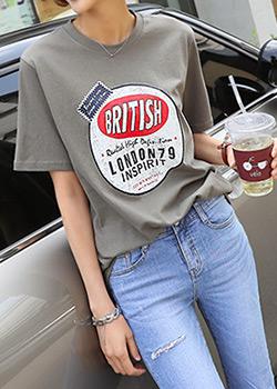 """487090 - <font color=""""878787""""><font face=""""굴림"""">London 79 T-shirts</font></font>"""