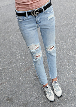 "487180 - <font color=""878787""><font face=""굴림"">Denis Straight Denim Pants</font></font>"