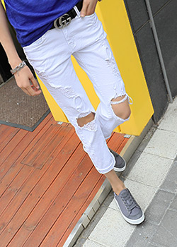 "487245 - <font color=""878787""><font face=""굴림"">Luffined straight pants</font></font>"