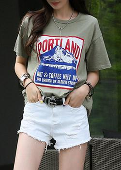 """487254 - <font color=""""878787""""><font face=""""굴림"""">Portland T-shirts</font></font>"""