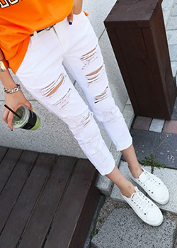 "487300 - <font color=""878787""><font face=""굴림"">Mode Lin Straight Pants</font></font>"