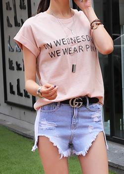 """487422 - <font color=""""878787""""><font face=""""굴림"""">Top Pink T-shirt</font></font>"""