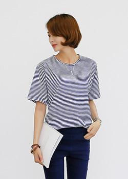 "487483 - <font color=""878787""><font face=""굴림"">Only you striped t-shirt</font></font>"