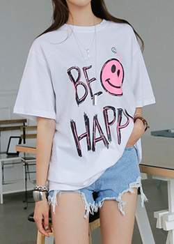 """487515 - <font color=""""878787""""><font face=""""굴림"""">Happy Happeness T-shirt</font></font>"""