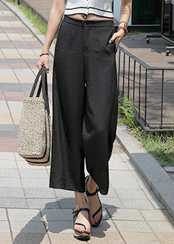 "487604 - <font color=""878787""><font face=""굴림"">Resent Wide Bending Pants</font></font>"