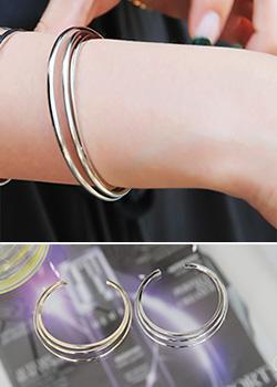"""487712 - <font color=""""878787""""><font face=""""굴림"""">One step only bracelet</font></font>"""