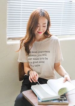 """487921 - <font color=""""878787""""><font face=""""굴림"""">Good feeling T-shirt</font></font>"""