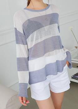 """487952 - <font color=""""878787""""><font face=""""굴림"""">Pallet Stripe Knit</font></font>"""