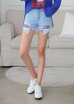 "487966 - <font color=""878787""><font face=""굴림"">Special short denim pants</font></font>"
