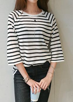 "488161 - <font color=""878787""><font face=""굴림"">Haymin stripe knit</font></font>"