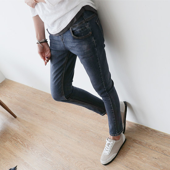 488313 - Canvas Bending Denim Pants