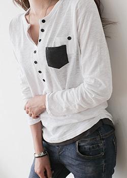 488314 - Bonnie Slab pocket T-shirt