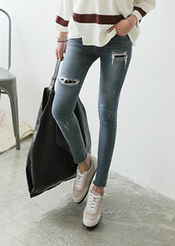 488349 - Poriton Denim Skinny Pants
