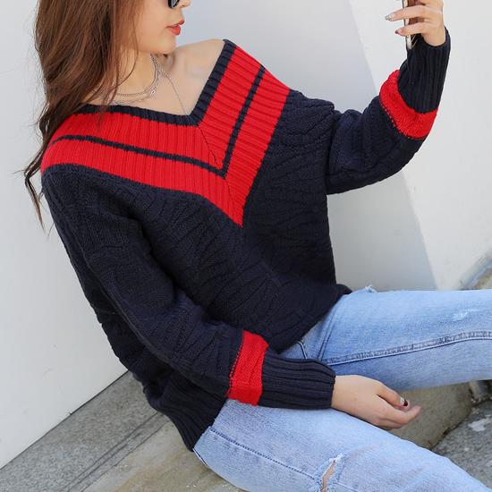 488488 - Lever or V-neck knit