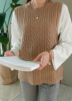 488607 - Foliage Knit Vest